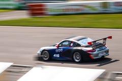 Tävlings- bil för Porsche 997 kopp GT3 Arkivbilder