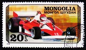 tävlings- bil för sport, serie för springa för bil, circa 1978 Arkivfoto