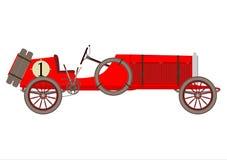 Tävlings- bil för tappning. stock illustrationer