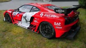 Tävlings- bil, Ferrari motor Racing, sportbilar Arkivfoton