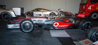 Tävlings- bil McLaren-Mercedes MP4-23, 2008 för formel en Arkivfoto