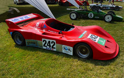 Tävlings- bilar för sportar Arkivfoton