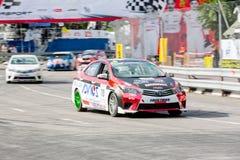 Tävlings- bilar i den Toyota motorsporten Royaltyfri Fotografi