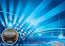tävlings- bilbegrepp Royaltyfri Foto
