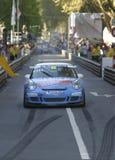 tävlings- blå bil Royaltyfri Bild
