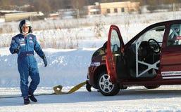 Tävlings- chaufför Firdaus Kabirov Fotografering för Bildbyråer