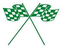 tävlings- checkerdflagga Royaltyfri Fotografi