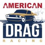 Tävlings- emblem för amerikansk friktion vektor illustrationer