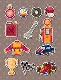 Tävlings- etiketter F1 Arkivbilder