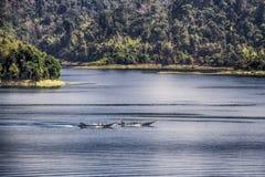Tävlings- fartyg i Thailand Arkivfoton