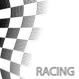 Tävlings- flagga som en schackbrädemodell Royaltyfria Foton