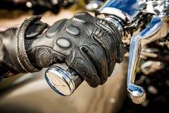 Tävlings- handskar för motorcykel Royaltyfri Fotografi