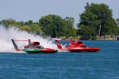 tävlings- hydroplane Arkivfoton