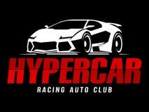 Tävlings- Hypercar för auto klubba logo Royaltyfri Fotografi