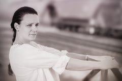 Tävlings- modell för stång Fotografering för Bildbyråer