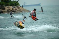 tävlings- motorboat royaltyfria bilder