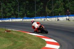 Tävlings- motorcykel för EBR Arkivfoto