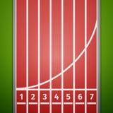 1 tävlings- röda startspår för 2 3 lanes Royaltyfri Bild