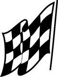 tävlings- rutig flagga Arkivbilder