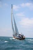 Tävlings- seglingyachter Arkivfoto