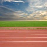 tävlings- spår Arkivfoto