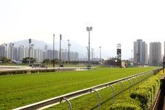 tävlings- spår för racecourse Arkivbild