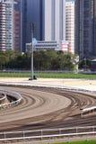 tävlings- spår för racecourse Arkivbilder