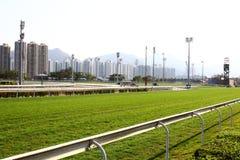 tävlings- spår för racecourse Arkivfoton