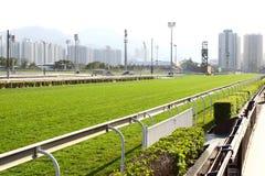 tävlings- spår för racecourse Fotografering för Bildbyråer