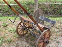 Tävlings- sulky som används i travsport utan hästen Royaltyfri Bild