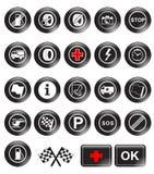 tävlings- symboler Arkivfoto