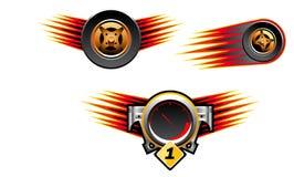 tävlings- symboler för symboler Royaltyfria Bilder
