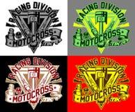 Tävlings- uppdelningsmx för motocross Arkivfoton