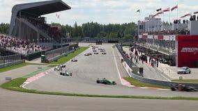 Tävlings- varv av formeln Renault 2 0 i Moskvakapplöpningsbana