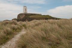 Tŵrmawr Vuurtoren, Ynys Llanddwyn stock foto's