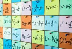 tła ilustracyjny liczb wektor Liczby tekstury Matematycznie formuły na majcherach i równania zdjęcia royalty free