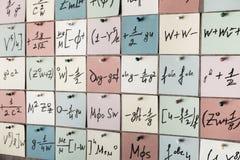 tła ilustracyjny liczb wektor Liczby tekstury Matematycznie formuły na majcherach i równania fotografia stock