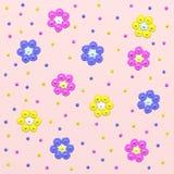 tła kwiatów menchie Dziecka ` s ilustracja royalty ilustracja