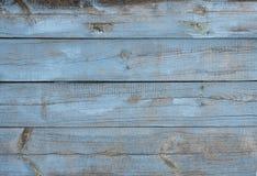 Tło stara drewnianych desek chropowatość malował w błękicie obrazy royalty free