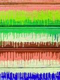 Tło stare drewniane deski z krakingową farbą obraz stock