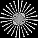 Tło w formie biali promienie w postaci okręgu na czerni royalty ilustracja