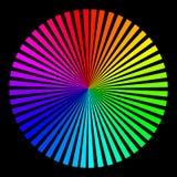 Tło w postaci barwionej piłki royalty ilustracja