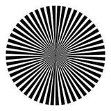 Tło w postaci czarnej piłki promienie ilustracja wektor