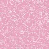 tło wektor deseniowy bezszwowy różowy Sakura okwitnięcie, Japońska kwiatonośna wiśnia symboliczna wiosna dla tkaniny, sieć projek ilustracja wektor
