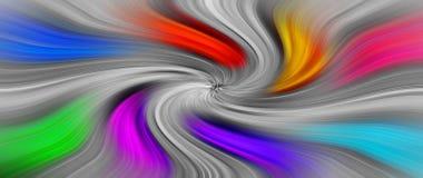 Tło zawijas wiruje colours tęczy zawroty głowy sen ilustracja wektor