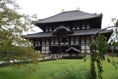 TÅ 戴籍寺庙Daibutsu,奈良,日本 图库摄影