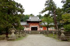TÅ 戴籍寺庙Daibutsu,奈良,日本 免版税库存照片