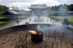 TÅ-dai-ji tempel Daibutsu, Nara, Japan Arkivbilder