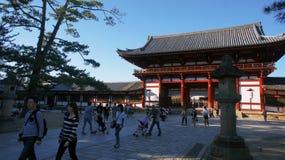 TÅ 戴籍寺庙日本奈良公园 图库摄影