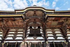 TÅ 戴籍寺庙的(Daibutsu)了不起的菩萨霍尔在奈良 库存图片